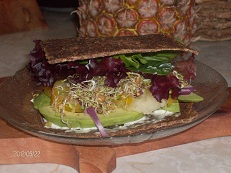 Here's a pic of my fave raw sandwich!